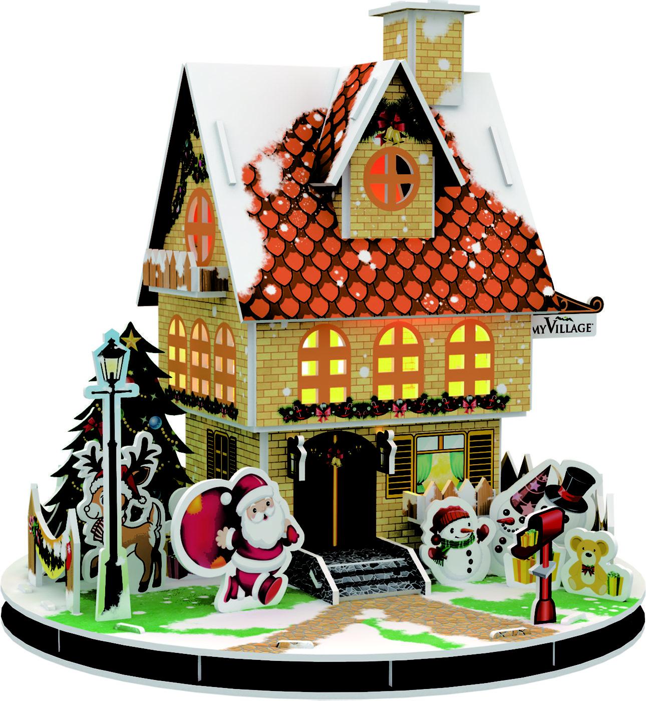 MYPZ01 - 3D-PUZZLE-CHRISTMAS-HOUSE